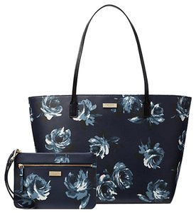 Kate Spade Large Travel Mavis Street Taden S Tote In Night Rose Navy Multi