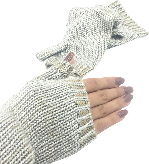 Item - Silver Brown Knitted And Arm Warmer - New Without Tags