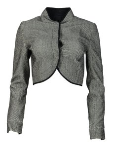 Narciso Rodriguez Wool And Cropped Black/White Jacket
