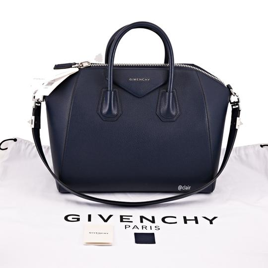 Givenchy Leather Satchel in Night Blue