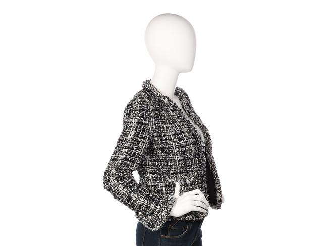 Chanel Cc Ch.ep1109.06 2003 Mohair Silver Hardware Black Jacket