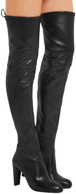 Stuart Weitzman Black New Over The Knee Highland Leather Boots/Booties Size US 5 Regular (M, B) Stuart Weitzman Black New Over The Knee Highland Leather Boots/Booties Size US 5 Regular (M, B) Image 1