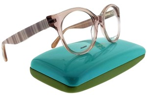 Kate Spade GERALYN-0QGX-50 Round Women's Beige Frame Clear Lens Eyeglasses NWT