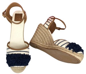 Tory Burch Brown/Blue Wedges