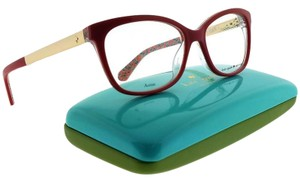 Kate Spade JODIANN-0XSU-52 Rectangle Women's Red Frame Clear Lens Eyeglasses NWT