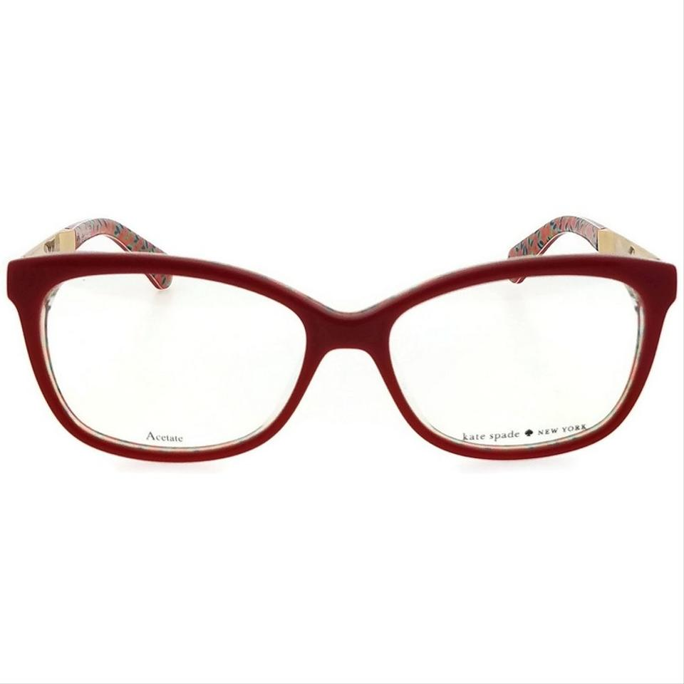 1a84ed486ef Kate Spade JODIANN-0XSU-52 Rectangle Women s Red Frame Clear Lens Eyeglasses  NWT Image. 123456