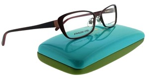 Kate Spade LIDIA-0JTV-52 Rectangle Women's Chocolate Red Frame Clear Eyeglasses