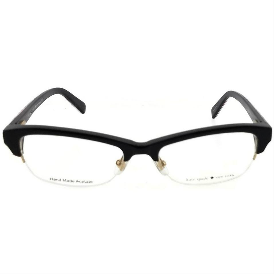 b68834b0a7 Kate Spade Marika-0807-51 Oval Women s Black Frame Clear Lens Genuine  Eyeglasses