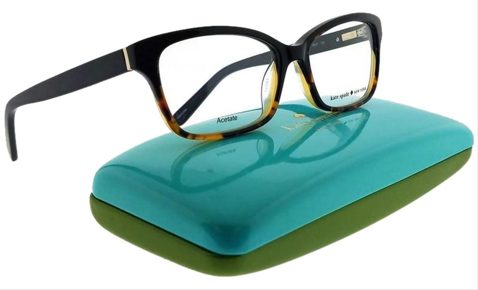 f8c02b6ba54 Kate Spade Sharla-0eut-49 Rectangle Women s Black Tortoise Frame Clear  Eyeglasses