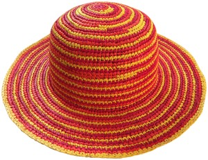 Other Ladies Colourful Crochet Panama Hat from Ecuador