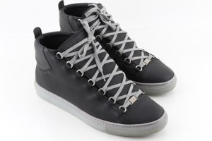 Balenciaga Black Arena Leather High-top Sneakers Shoes