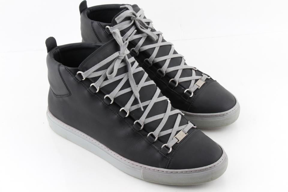 2958f3839236 Balenciaga Black Arena Leather High-top Sneakers Shoes - Tradesy