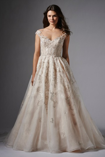 Preload https://img-static.tradesy.com/item/24507022/wtoo-ivoryblush-audrey-feminine-wedding-dress-size-8-m-0-0-540-540.jpg