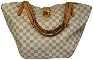 Louis Vuitton Salina Damier Azur Neverfull Tote in White