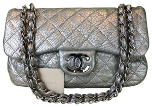 cfdb90abd80871 Chanel Metallic Leather Quilted Icy Cool Flap Shoulder Bag