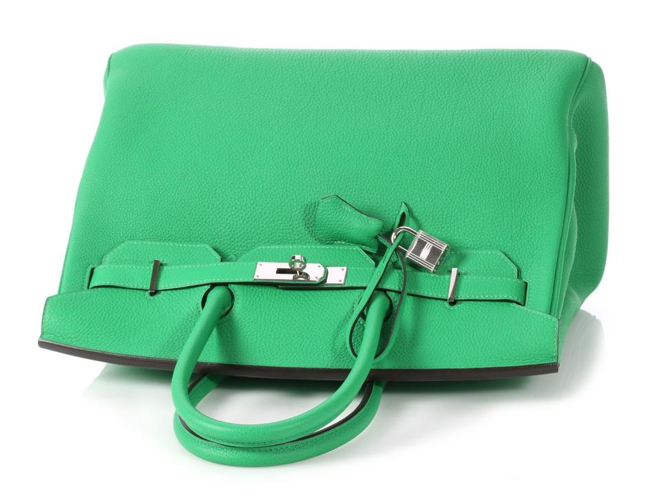 b6534a4742a Hermès 35 Togo Bamboo Hr.p1107.04 Reduced Price Satchel in Green Image 11.  123456789101112