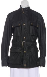 Belstaff Belt Field Coated Leather Trench Coat