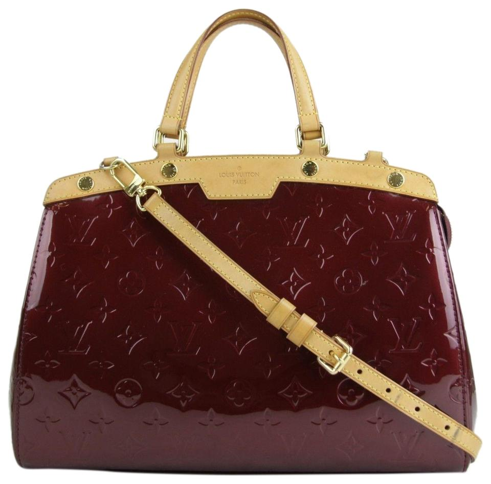 d5926a0008ef Louis Vuitton Brea Shimery Rouge Aa4162 Red Patent Leather Satchel ...
