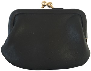 Coach Coach Black Leather Change Purse (Style 7155)