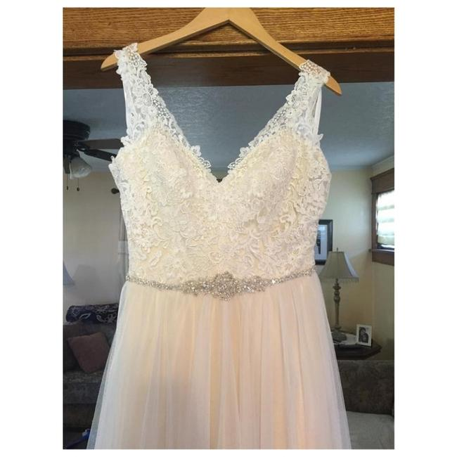Allure Bridals Gold/Ivory Soft Tulle 9205 By Feminine Wedding Dress Size 12 (L) Allure Bridals Gold/Ivory Soft Tulle 9205 By Feminine Wedding Dress Size 12 (L) Image 1