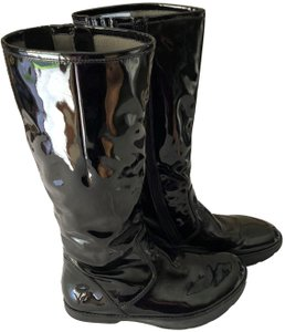 Earth Comfortable Waterproof Lined Interior Black Vegan Patent Leather Boots