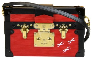 Louis Vuitton Red/Black Leather Trunk The Petite Malle Shoulder Bag