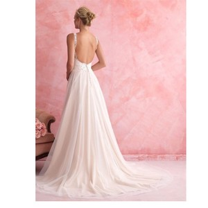 Allure Bridals Ivory Soft Tulle 2802 By Feminine Wedding Dress Size 12 (L)