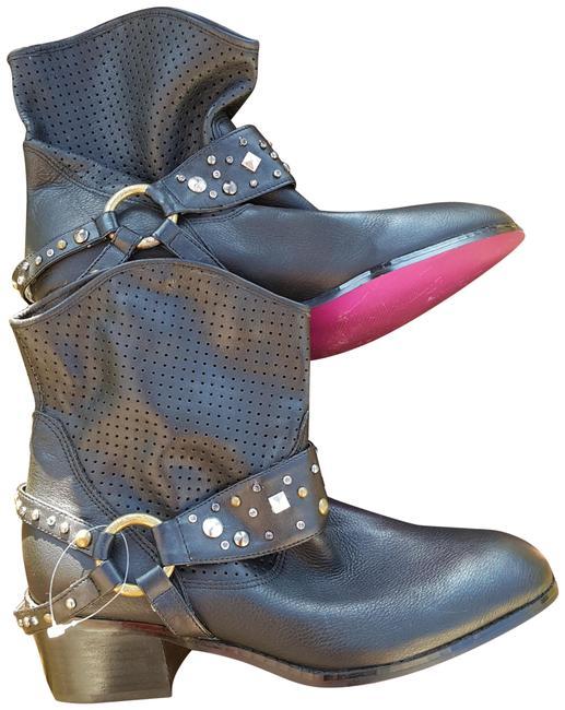 Item - Black Perforated Western Boots/Booties Size US 8 Regular (M, B)
