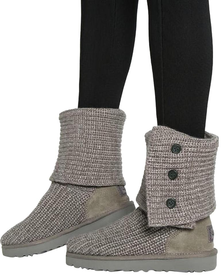 dfa16fd80b6 UGG Australia Grey Classic Cardy Knit/Suede Wool Women Sweater  Boots/Booties Size US 6 Regular (M, B) 21% off retail