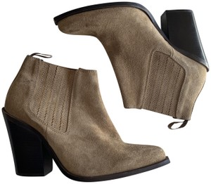 Jeffrey Campbell Western Suede Pointy Camel Boots
