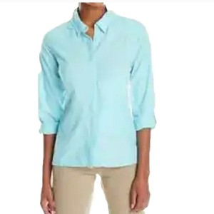 ExOfficio Button Down Shirt Blue