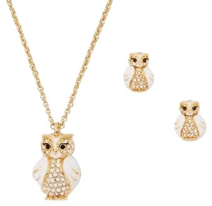 Kate Spade Kate spade bright owl NWT necklace and earrings set