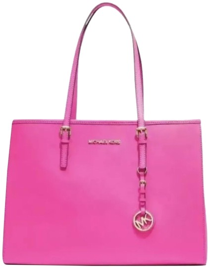 Preload https://img-static.tradesy.com/item/24507927/michael-kors-jet-set-neon-pink-saffiano-leather-tote-0-1-540-540.jpg