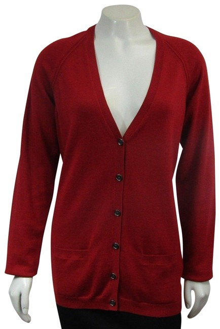 Preload https://img-static.tradesy.com/item/24507929/burberry-check-elbow-patches-long-sleeve-cardigan-v-neck-red-sweater-0-1-650-650.jpg