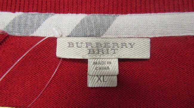 Burberry Cardigan Knit Patches Brit Sweater