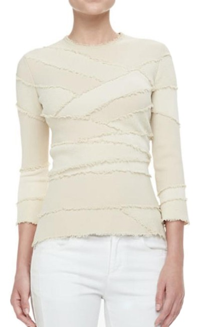 Preload https://img-static.tradesy.com/item/24507983/alexander-mcqueen-fringed-cream-sweater-0-3-650-650.jpg