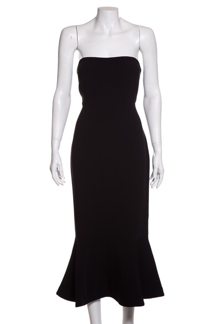 Preload https://img-static.tradesy.com/item/24508008/cinq-a-sept-black-strapless-woven-mid-length-night-out-dress-size-12-l-0-0-650-650.jpg