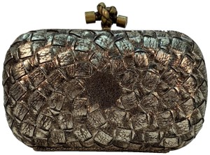 Bottega Veneta Gold Metallic Clutch