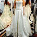 Maggie Sottero Champagne Formal Wedding Dress Size 6 (S)