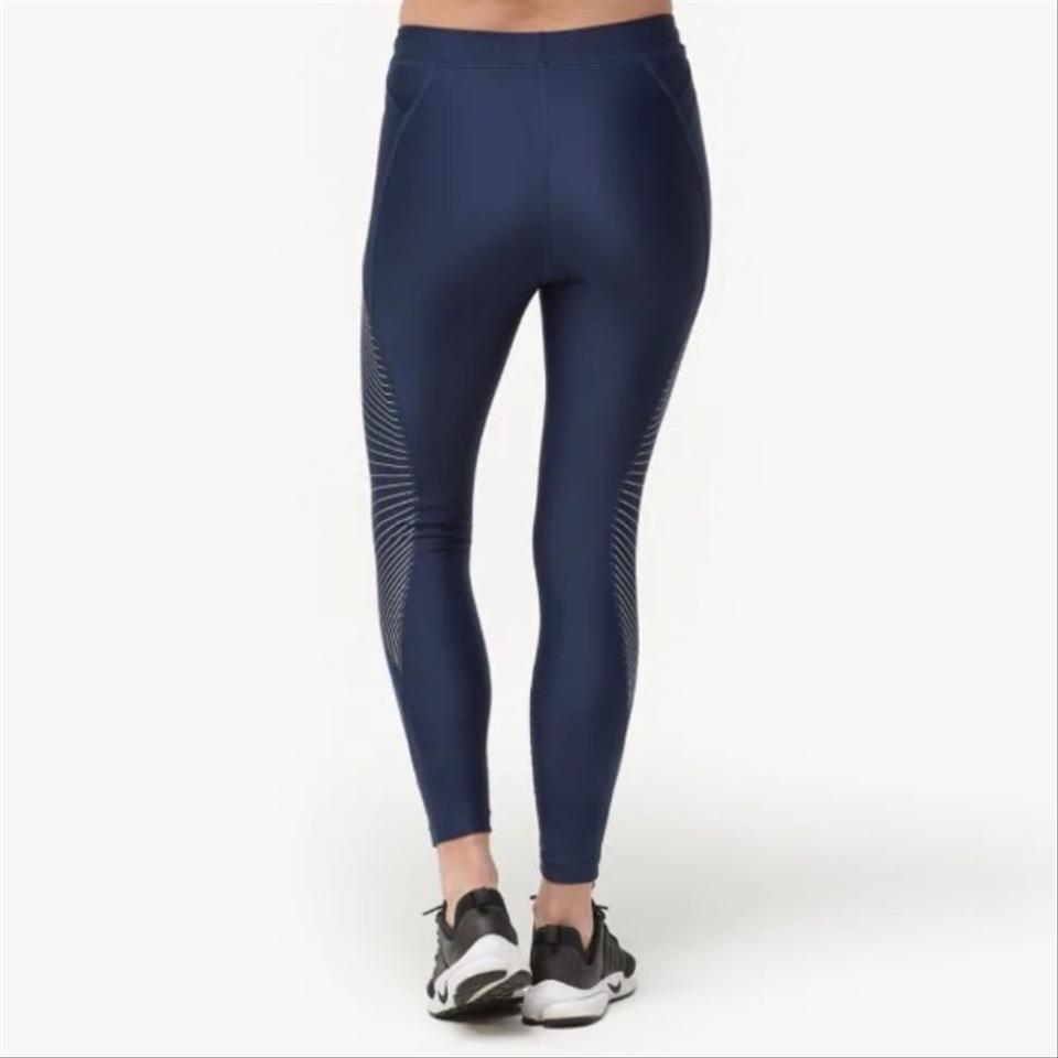 Nike Navy Power Speed 78 Graphic Running Tights Activewear Bottoms Size 12 (L) 38% off retail