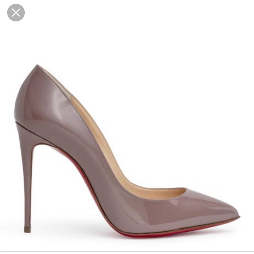 298367eb75d9 Christian Louboutin Gray Pigalle Follies Patent Antic Dusty Rose Stiletto  Pumps