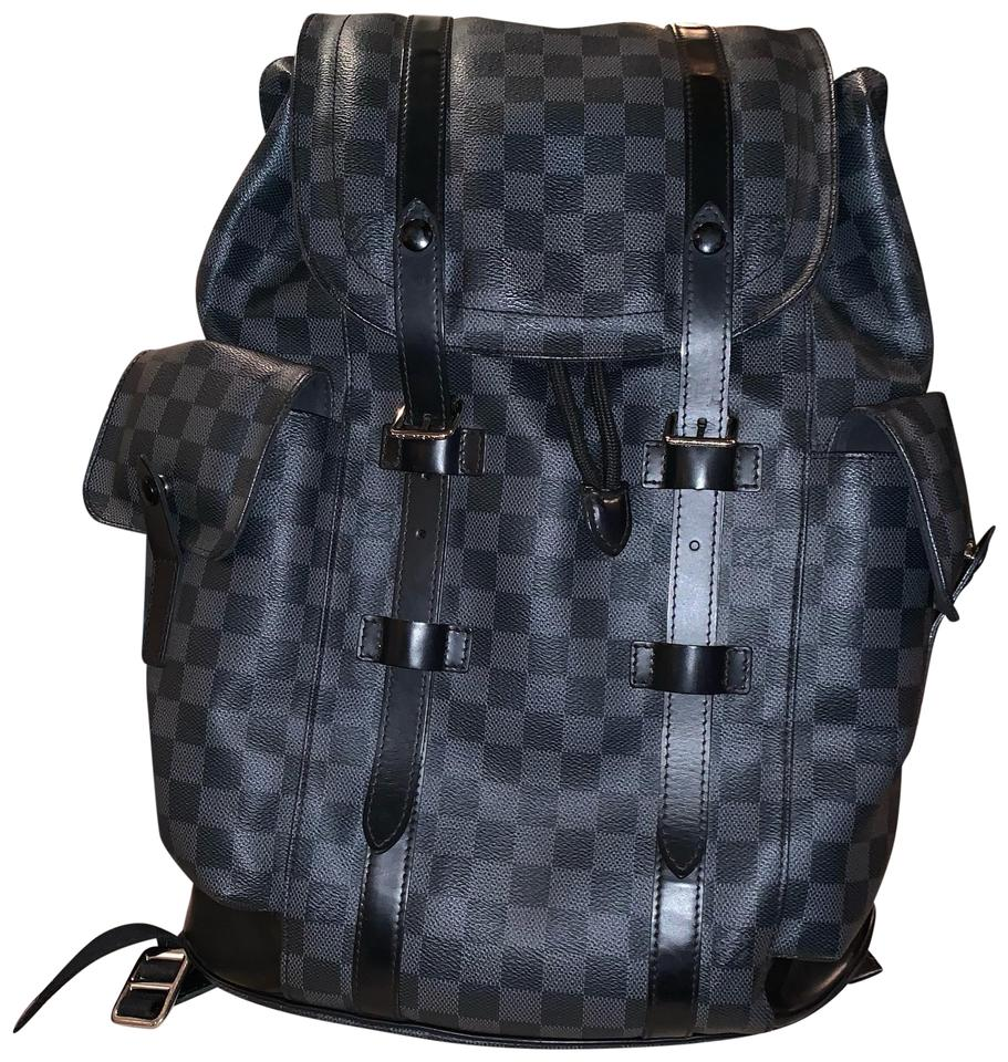 e184957aa23 Louis Vuitton Christopher Pm Damier Graphite Black Coated Canvas Backpack  16% off retail