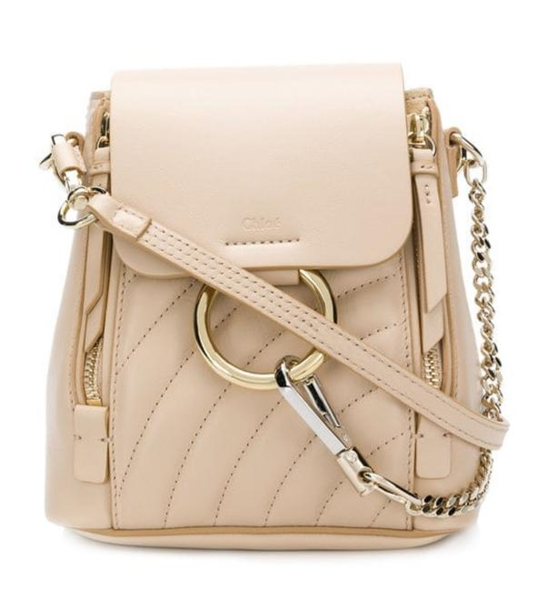Item - Faye Quilted Mini Pearl Beige Backpack