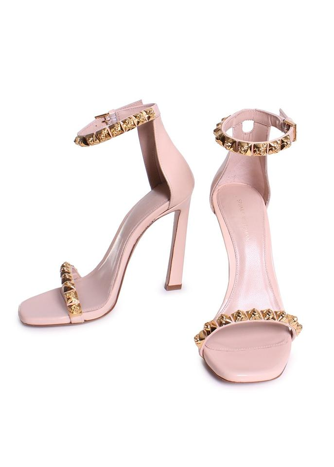 65ee3ae1176a Stuart Weitzman Leather Strappy Toe Blush Rose Gold Sandals Image 0 ...