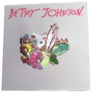 Betsey Johnson Betsey Johnson New Kitty with Butterfly Ring