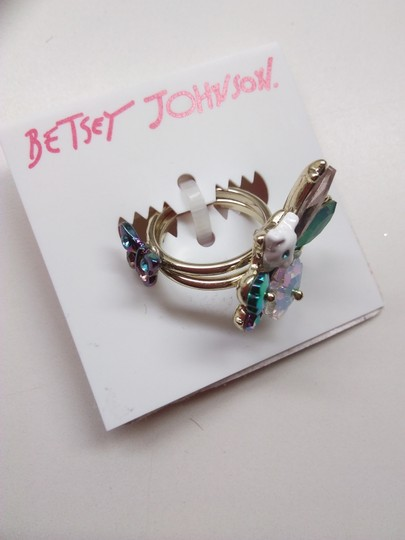 Betsey Johnson Betsey Johnson New Kitty with Butterfly Ring Image 1