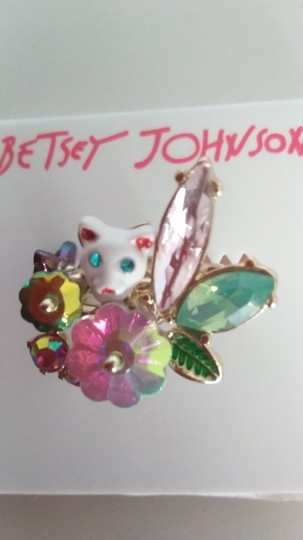 Betsey Johnson Betsey Johnson New Kitty with Butterfly Ring Image 2