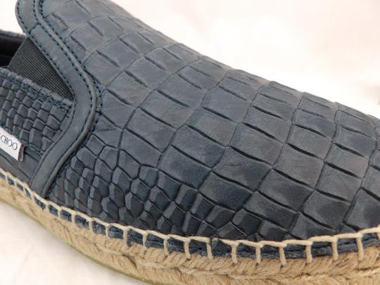 Jimmy Choo Green Vlad Leather Croc Print Logo Espadrille 43 10 Spain Shoes Image 7