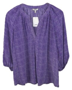 5aa1297cc7d98 Joie Fall Winter Holiday Date Night Night Out Top Purple White Black