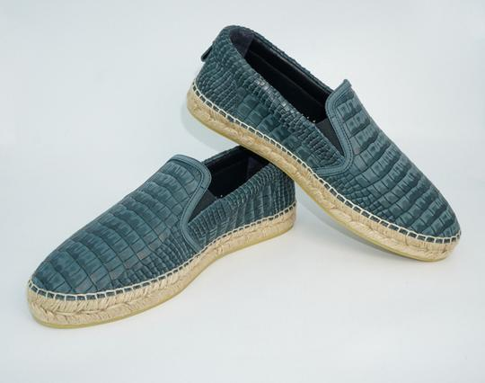 Jimmy Choo Green Vlad Leather Croc Print Logo Espadrille 41 8 Spain Shoes Image 0